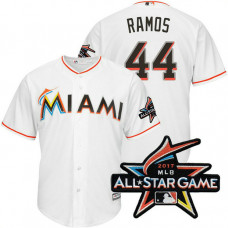 Miami Marlins A.J. Ramos #44 White 2017 All-Star Game Patch Cool Base Jersey