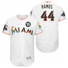 Miami Marlins A.J. Ramos #44 White 2017 All-Star Jose Fernandez Patch Flex Base Jersey