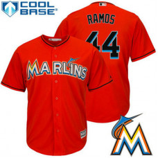 Miami Marlins A.J. Ramos #44 Firebrick Alternate Cool Base Jersey