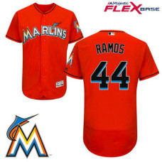 Miami Marlins A.J. Ramos #44 Firebrick Flex Base Player Jersey