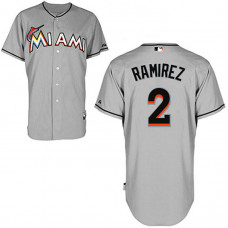 YOUTH Miami Marlins #2 Hanley RamirezGrey Jersey