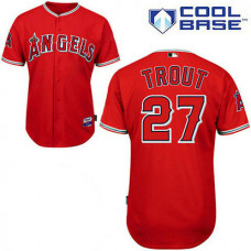 Los Angeles Angels of Anaheim #27 Mike Trout Red Cool Base Jersey