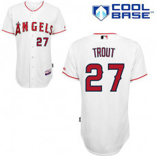 Los Angeles Angels of Anaheim #27 Mike Trout White Cool Base Jersey