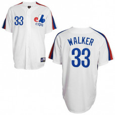 Montreal Expos #33 Larry Walker White Jersey