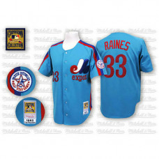 Montreal Expos #33 Larry Walker Blue Jersey