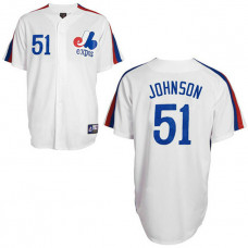 Montreal Expos #51 Randy Johnson White Jersey