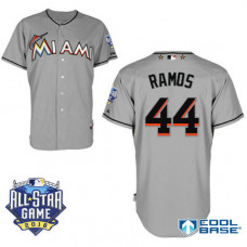 Miami Marlins #44 A.J. Ramos Grey 2016All Star Game Patch Cool Base Jersey