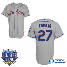 New York Mets #27 Jeurys Familia Grey 2016All Star Game Patch Cool Base Jersey