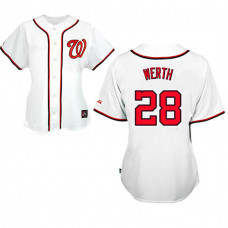 Women - Washington Nationals #28 Jayson Werth White Fashion Jersey