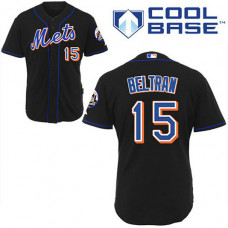 New York Mets #15 Carlos Beltran Black Alternate Jersey