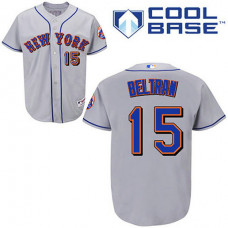 New York Mets #15 Carlos Beltran Grey Away Jersey