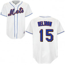 New York Mets #15 Carlos Beltran White Home Jersey