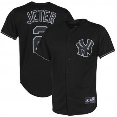 New York Yankees #2 Derek Jeter Black Fashion Jersey