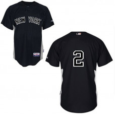 New York Yankees #2 Derek Jeter Black Jersey