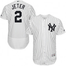 New York Yankees #2 Derek Jeter White Flexbase Authentic Collection Jersey