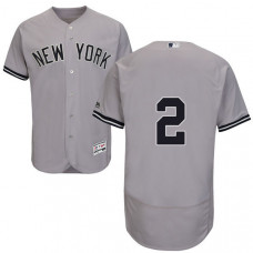 New York Yankees Derek Jeter #2 Grey Authentic Collection Flexbase Player Jersey