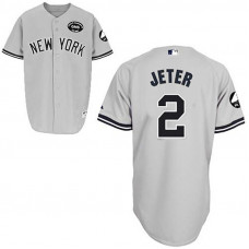 New York Yankees #2 Derek Jeter GMS Grey Jersey