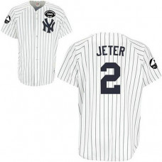 New York Yankees #2 Derek Jeter GMS The Boss White Jersey