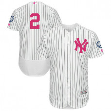 Derek Jeter #2 New York Yankees 2017 Mother's Day White Flex Base Jersey