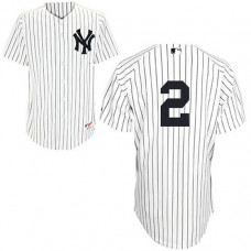 New York Yankees #2 Derek Jeter White Home Jersey