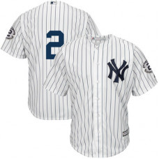 New York Yankees Derek Jeter White/Navy #2 Official Cool Base Jersey
