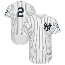New York Yankees Derek Jeter #2 White Retirement Patch Home Flex Base Jersey