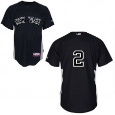 YOUTH New York Yankees #2 Derek JeterBlack Jersey