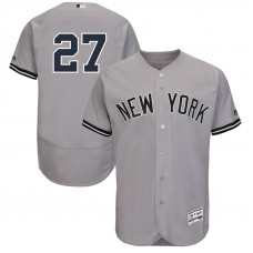 New York Yankees Giancarlo Stanton #27 Grey Authentic Collection Road Flex Base Player Jersey