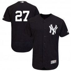 New York Yankees Giancarlo Stanton #27 Navy Authentic Collection Alternate Flex Base Player Jersey