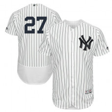 New York Yankees Giancarlo Stanton #27 White Authentic Collection Home Flex Base Player Jersey