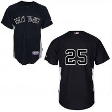 YOUTH New York Yankees #25 Mark TeixeiraBlack Jersey