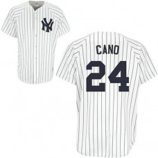 YOUTH New York Yankees #24 Robinson CanoWhite Jersey