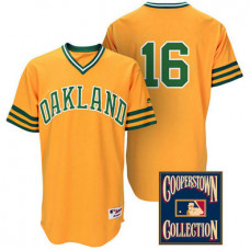 Oakland Athletics #16 Billy Butler Gold Turn Back the Clock Throwback Jersey