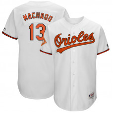 Baltimore Orioles #13 Manny Machado White 1992 Throwback Turn Back the Clock Authentic Player Jersey
