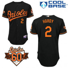 Baltimore Orioles #2 J.J. Hardy Authentic Black Alternate Cool Base Jersey