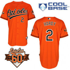 Baltimore Orioles #2 J.J. Hardy Authentic Orange Alternate Cool Base Jersey