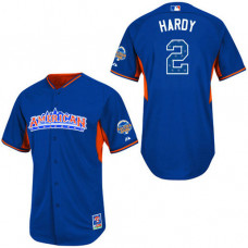 Baltimore Orioles #2 J.J. Hardy Authentic Royal Blue American League 2013 All Star BP Jersey