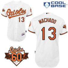 Baltimore Orioles #13 Manny Machado Authentic White Home Cool Base Jersey