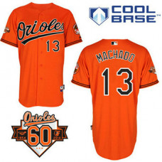 Baltimore Orioles #13 Manny Machado Authentic Orange Alternate Cool Base Jersey