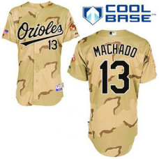 Baltimore Orioles #13 Manny Machado Authentic Camo Commemorative Military Day Cool Base Jersey