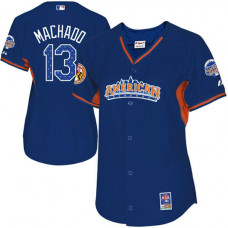 Baltimore Orioles #13 Manny Machado WoAuthentic Royal Blue American League 2013 All Star BP Jersey