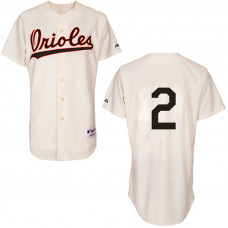 Baltimore Orioles #2 J.J. Hardy Authentic Cream 1954 Turn Back The Clock Jersey