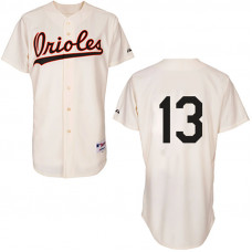 Baltimore Orioles #13 Manny Machado Authentic Cream 1954 Turn Back The Clock Jersey