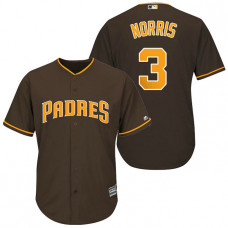San Diego Padres #3 Derek Norris Brown Cool Base Jersey