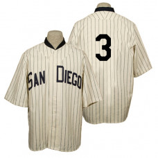 San Diego Padres #3 Derek Norris Cream 1936 Turn Back the Clock 80th Anniversary Jersey