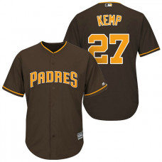 San Diego Padres #27 Matt Kemp Brown Cool Base Jersey