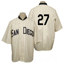 San Diego Padres #19 Matt Kemp Cream 1936 Turn Back the Clock 80th Anniversary Jersey