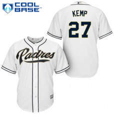 San Diego Padres #27 Matt Kemp White Cool Base Home Jersey