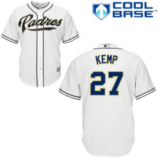 San Diego Padres #27 Matt Kemp Cool Base Home Jersey