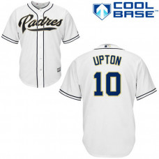 San Diego Padres #10 Justin Upton Authentic White Home Cool Base Jersey
